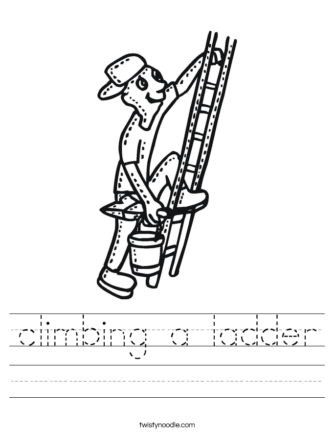 climbing a ladder Worksheet