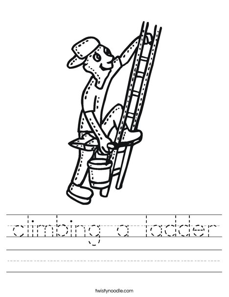 Painter on Ladder Worksheet