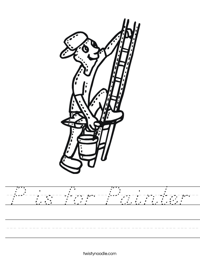 P is for Painter Worksheet