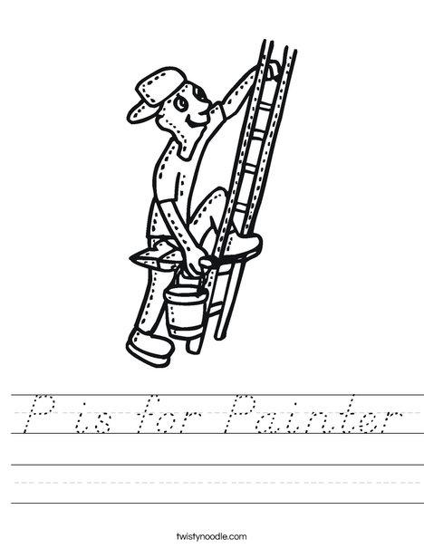Painter on Ladder Worksheet