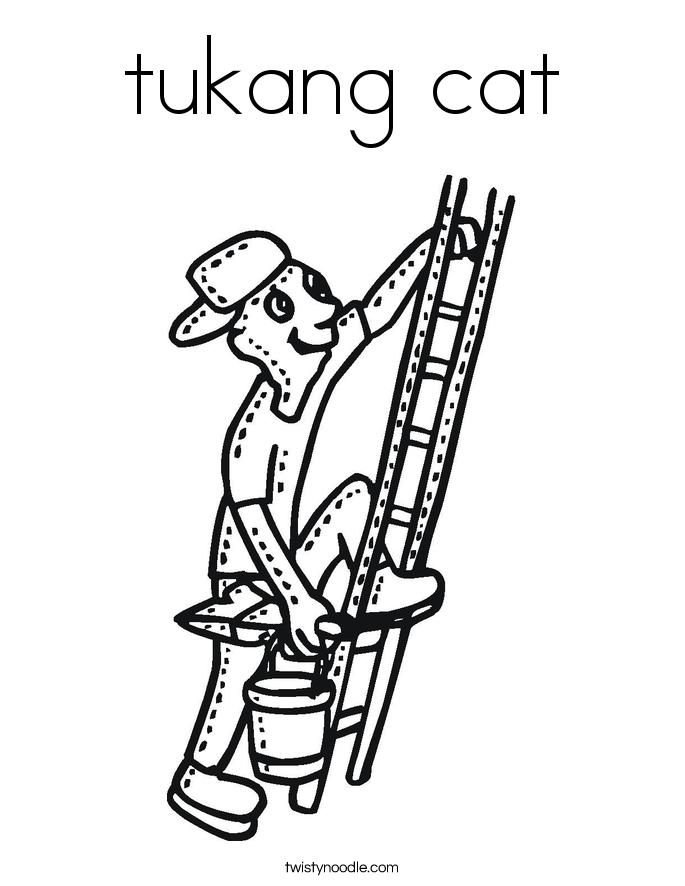 tukang cat Coloring Page