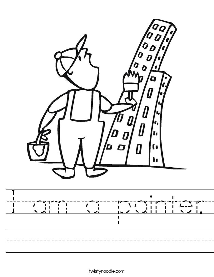 I am a painter. Worksheet