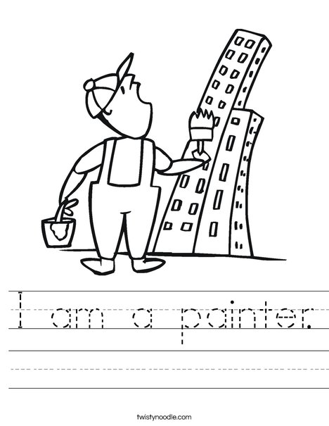 Painter and Skyscraper Worksheet