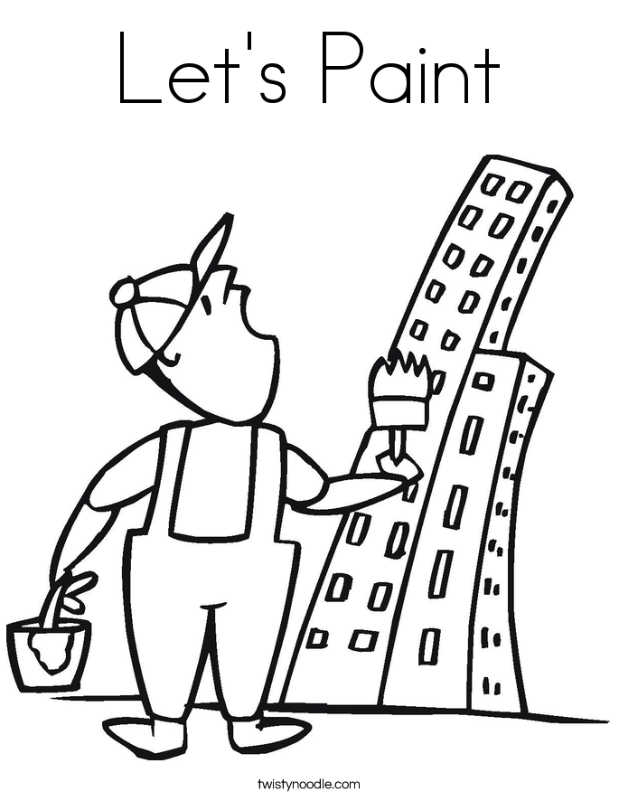 Let's Paint Coloring Page