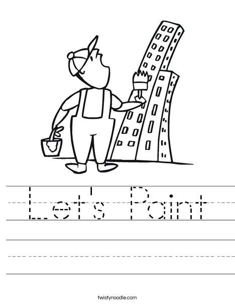 Painter and Skyscraper Worksheet