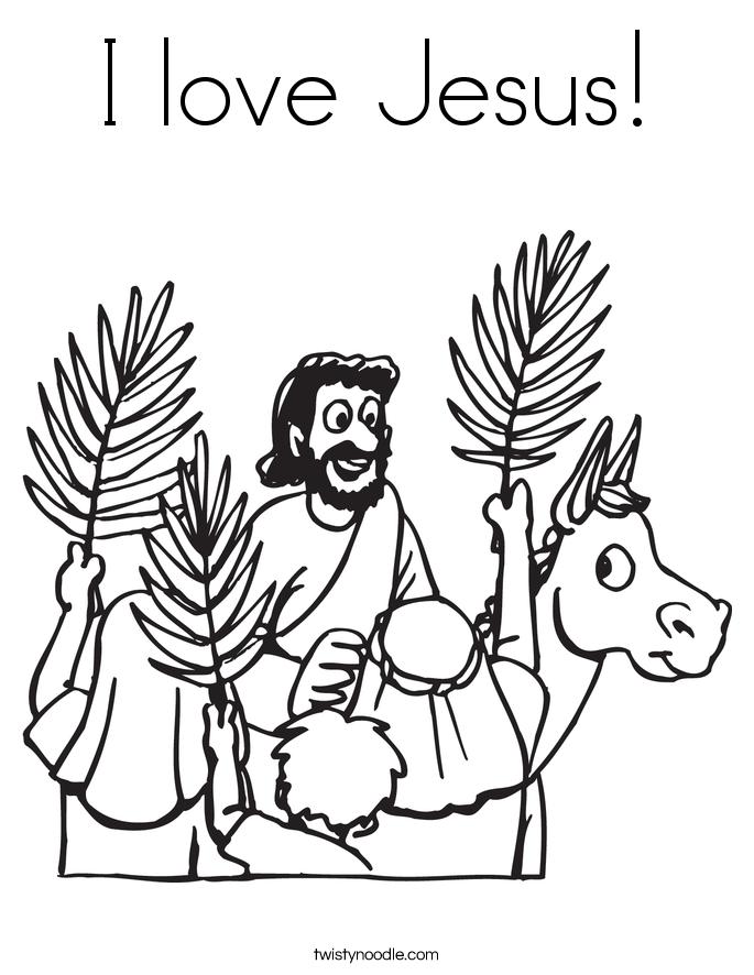 I love Jesus Coloring Page - Twisty Noodle