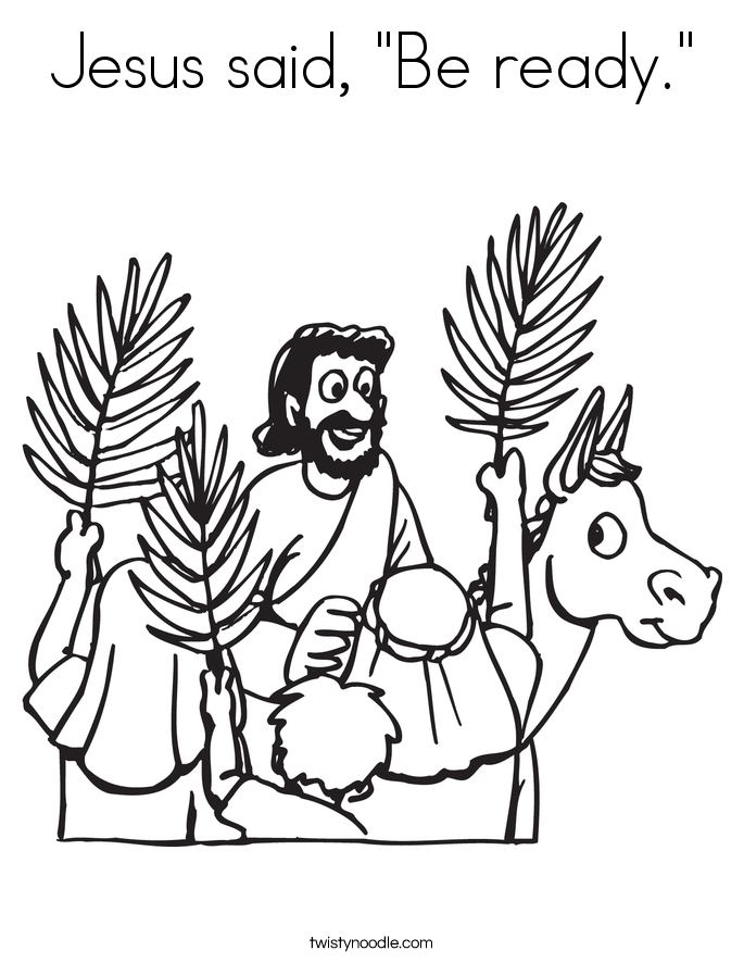"Jesus said, ""Be ready."" Coloring Page"