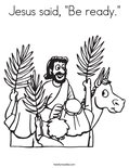 """Jesus said, """"Be ready.""""Coloring Page"""