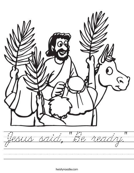 Palm Sunday Worksheet