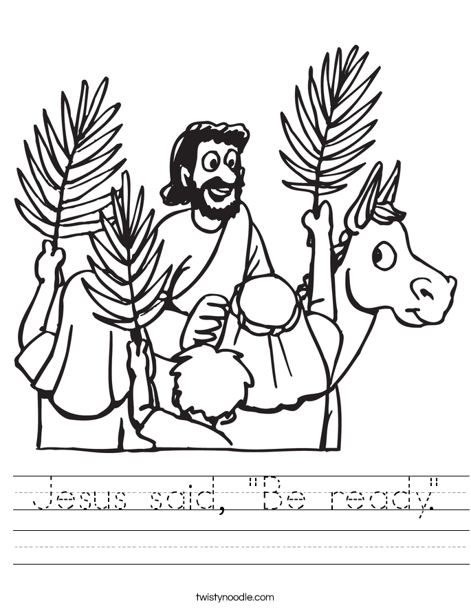"Jesus said, ""Be ready."" Worksheet"