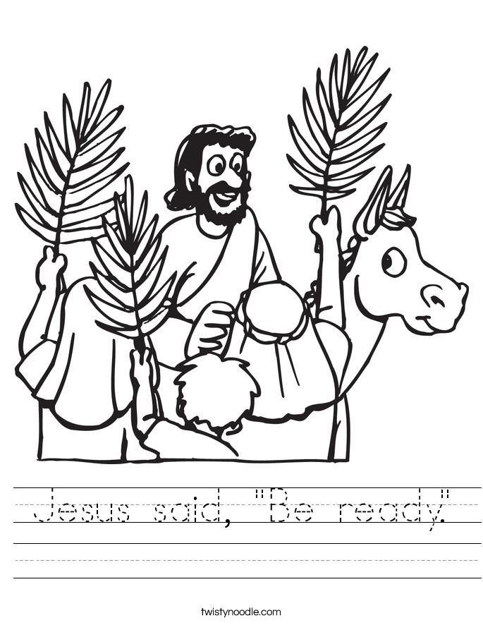 """Jesus said, """"Be ready."""" Worksheet"""