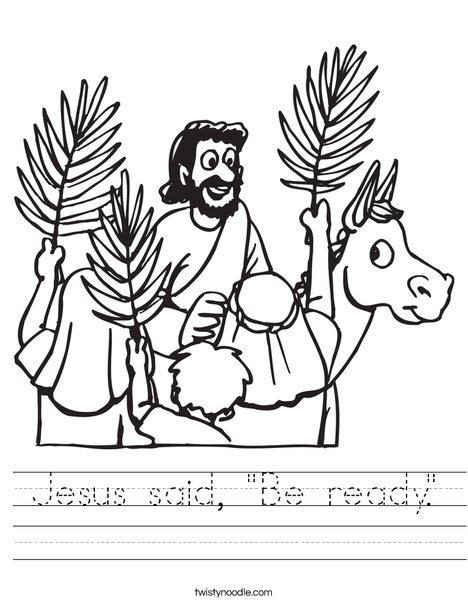 Palm Sunday Worksheet