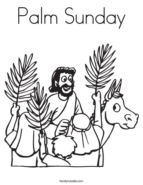 Palm Sunday Coloring Page - Twisty Noodle