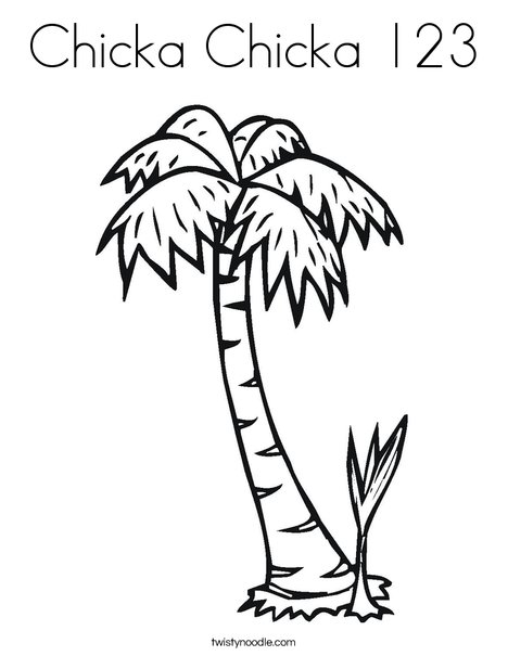 picture about Chicka Chicka Boom Boom Tree Printable referred to as Chicka Chicka 123 Coloring Web page - Twisty Noodle