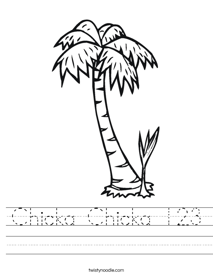 Chicka Chicka 123 Worksheet