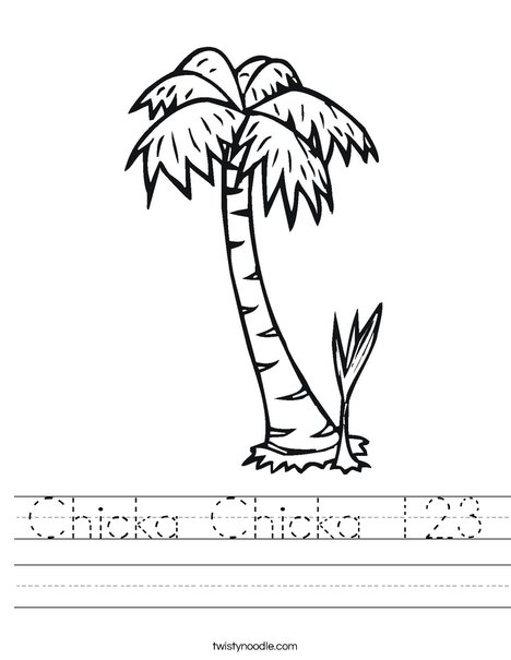 Palm Tree Worksheet