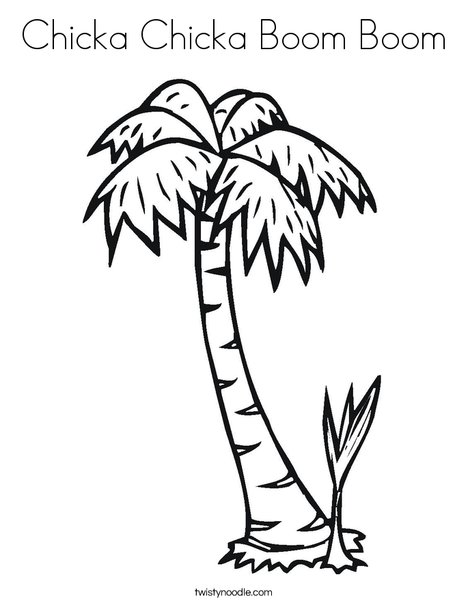 Coconut Palm Tree Coloring Page Coloring Pages