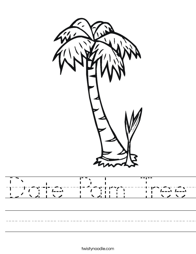 Date Palm Tree Worksheet