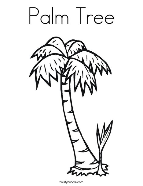 Palm Tree Coloring Page - Twisty Noodle