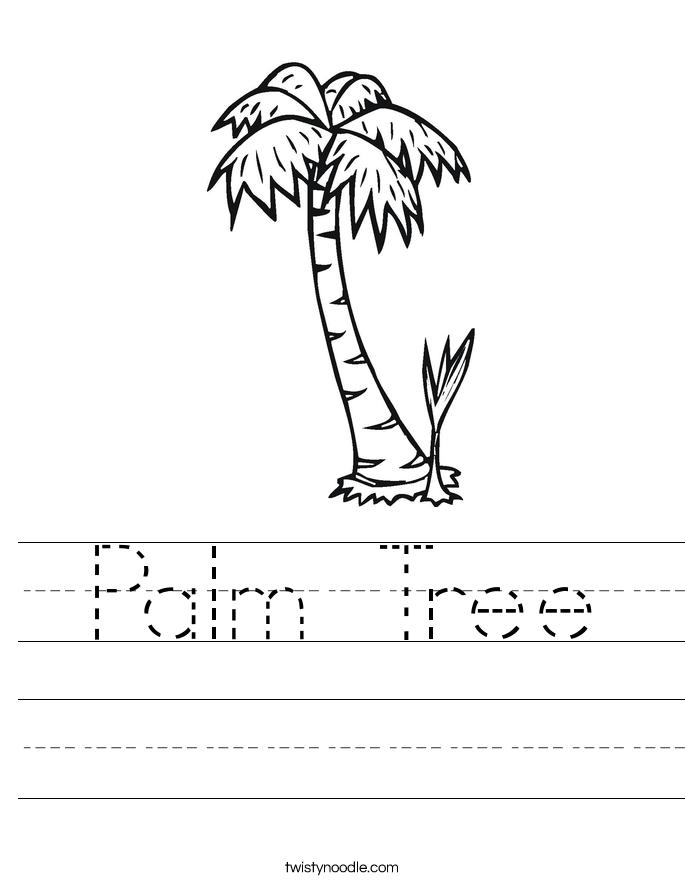 Palm Tree Worksheet