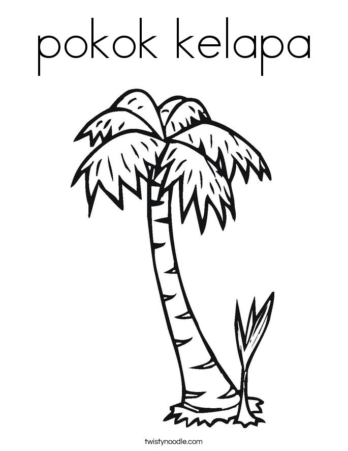 pokok kelapa Coloring Page