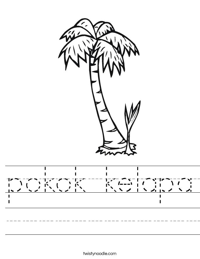 pokok kelapa Worksheet