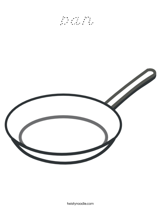 Coloring Fry Pan Coloring Pages Pan Coloring Page