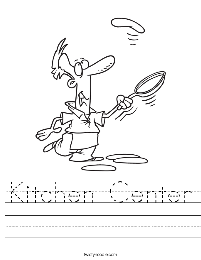 Kitchen Center Worksheet