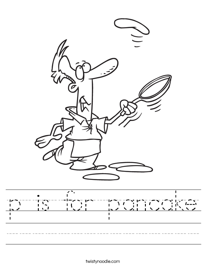 p is for pancake Worksheet
