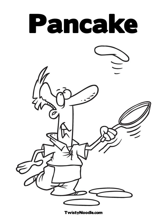 pancake coloring pages - pancakes colouring pictures