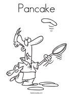 Pancake Coloring Page