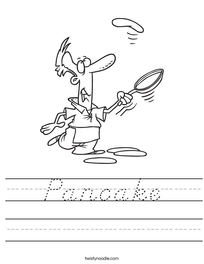 Pancake Worksheet