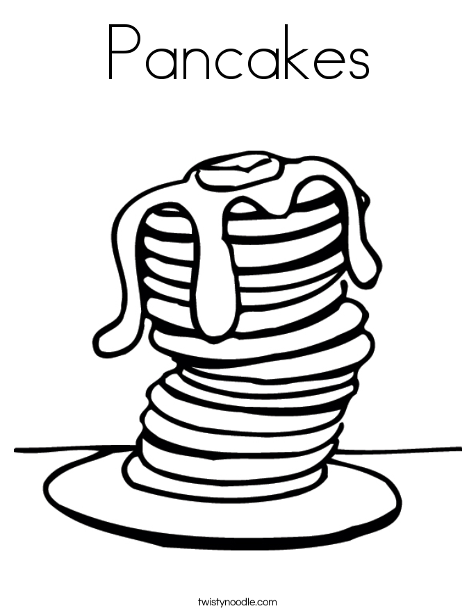 pancakes coloring pages - photo#4