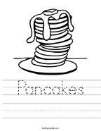 Pancakes Handwriting Sheet