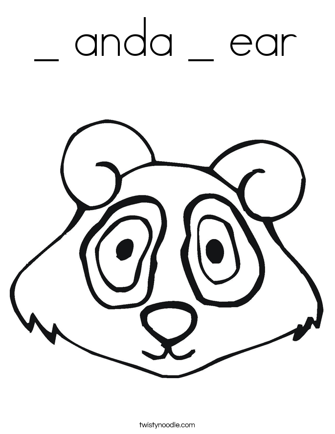 _ anda _ ear Coloring Page