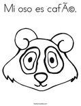 Mi oso es café.Coloring Page