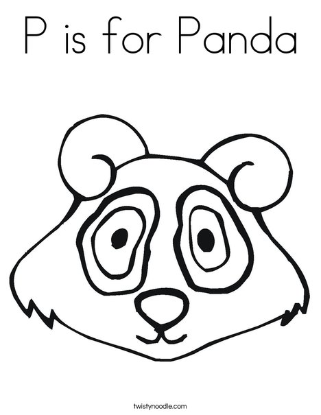 P is for Panda Coloring Page - Twisty Noodle