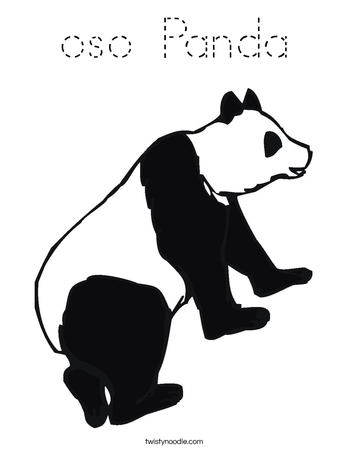 oso Panda Coloring Page