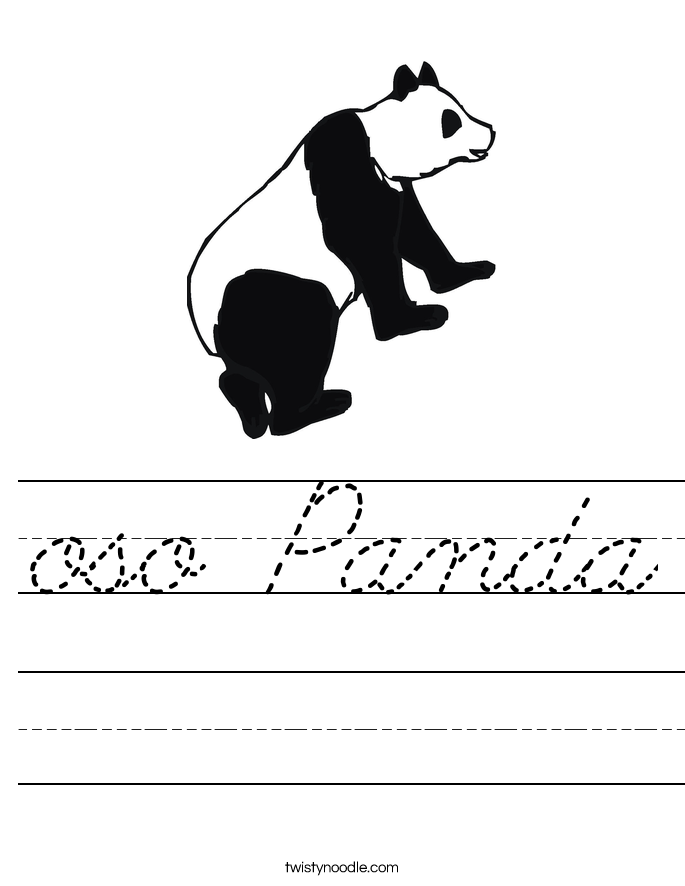 oso Panda Worksheet