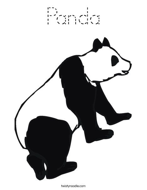 Black and White Panda Bear Coloring Page