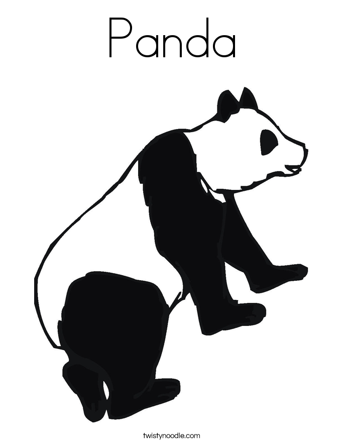 panda coloring page - Panda Pictures To Color
