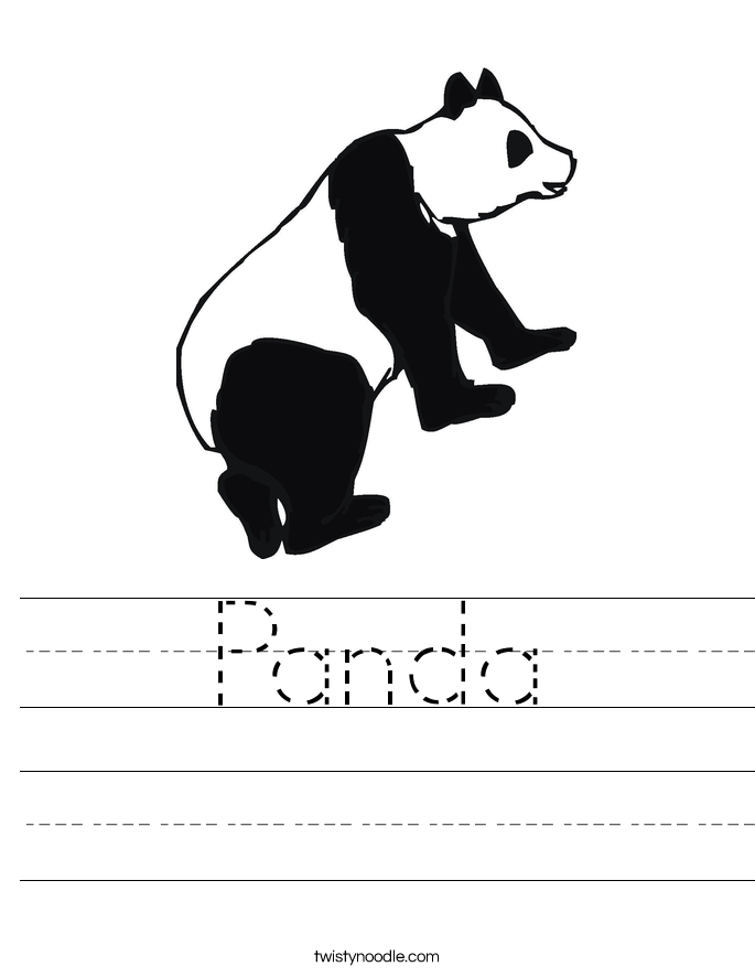 Panda Worksheet