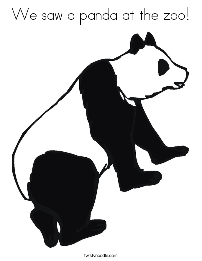 We saw a panda at the zoo! Coloring Page