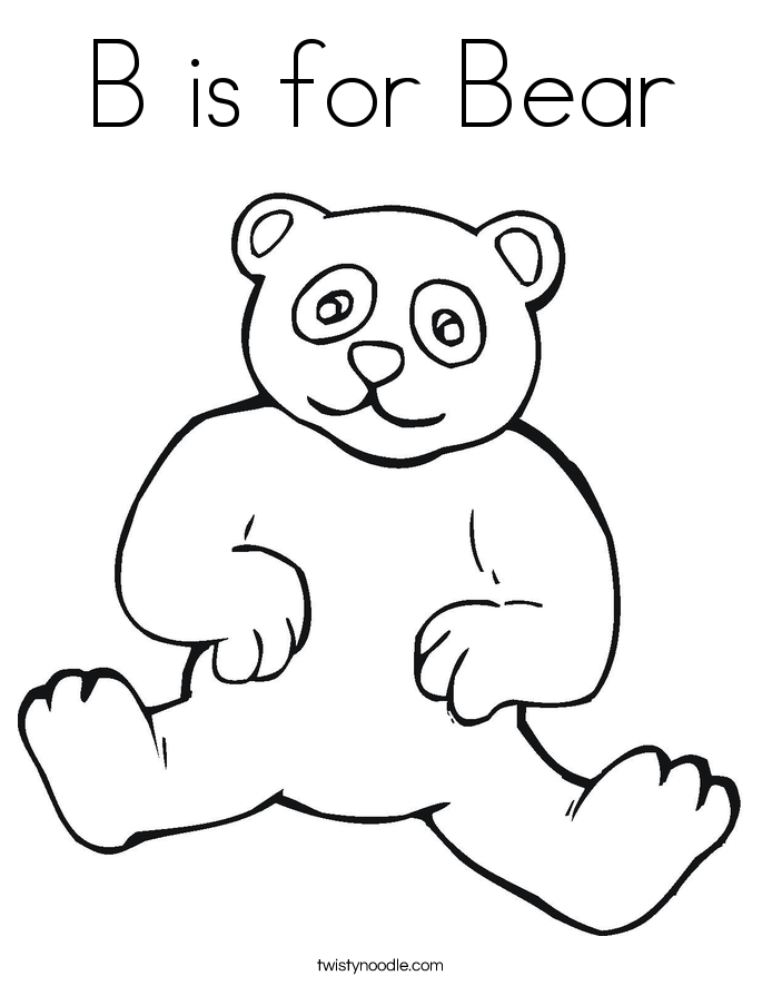 Is For Bear Coloring Page | Just another WordPress site on mibb ...