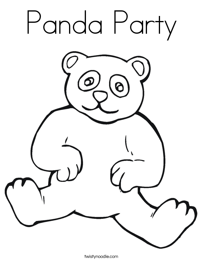 Panda Party Coloring Page