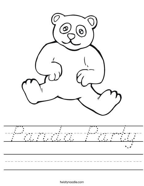 Panda Bear Worksheet