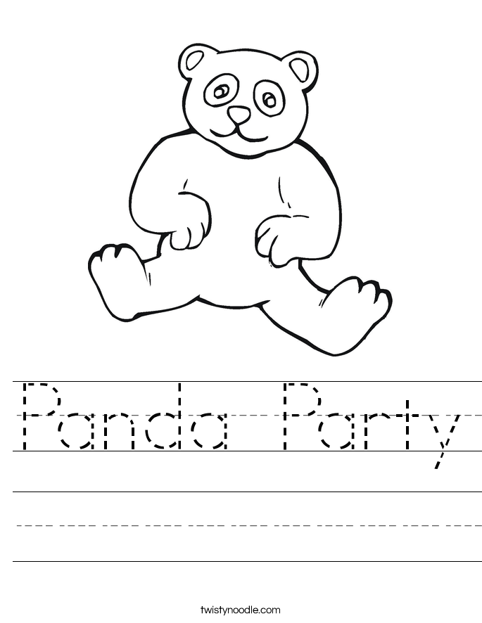 Panda Party Worksheet