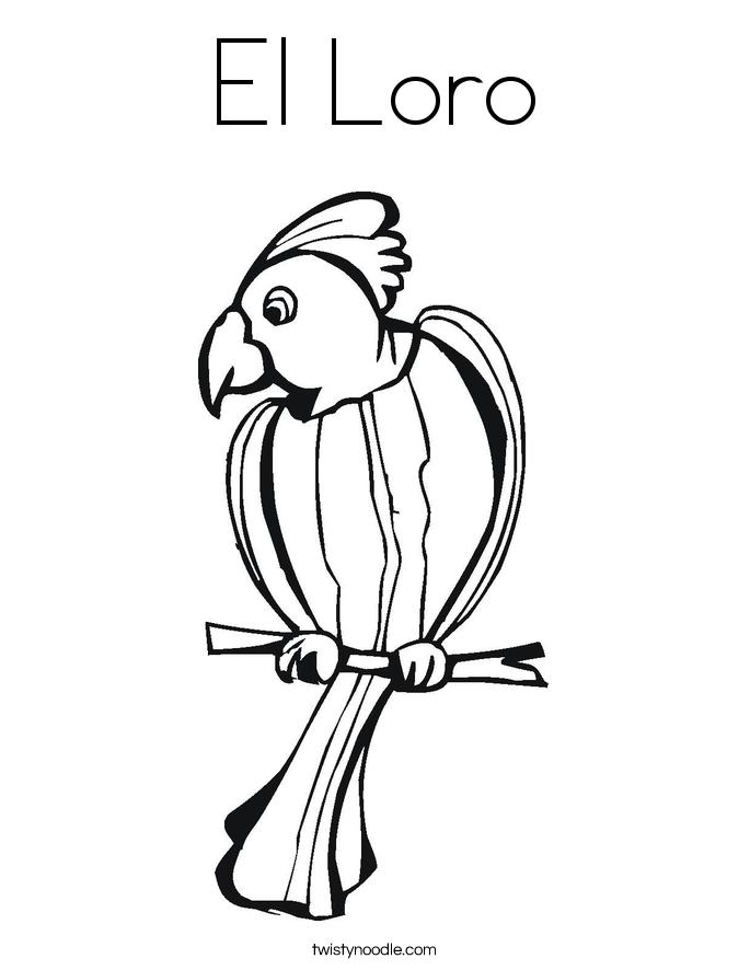 El Loro Coloring Page