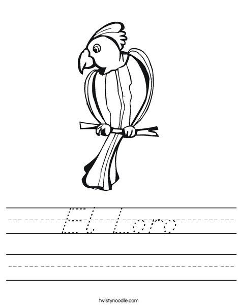 Parrot Worksheet