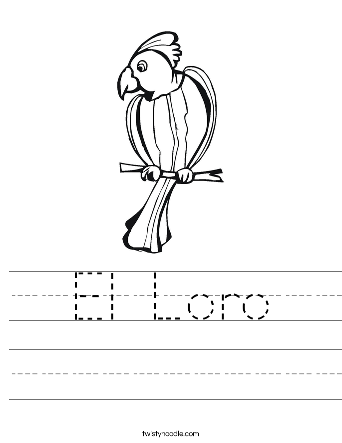 El Loro Worksheet